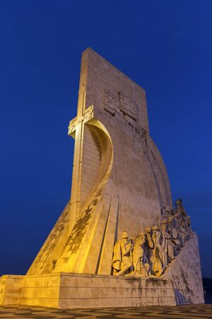 discoveries: Monument to the Discoveries in Belem in Portugal Editorial