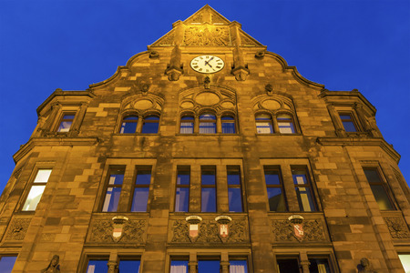 old town hall: Old Town Hall at the Friedensplatz in Dortmund in Germany Stock Photo