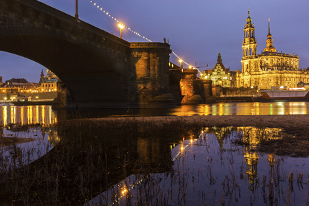 Dresden in Germany in the evening