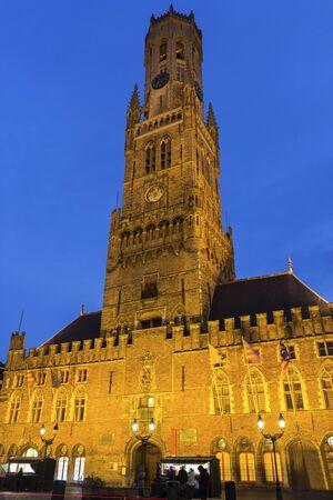 belfry: Belfry of Bruges in Belgium Stock Photo