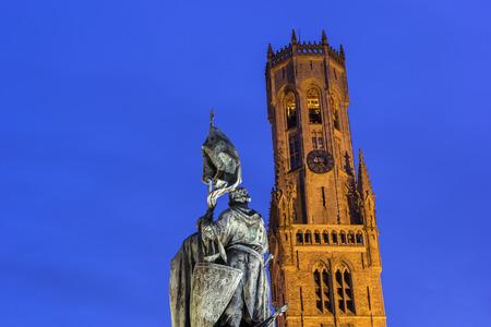 bruges: Belfry in Bruges in Belgium Stock Photo