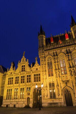 bruges: Burg Square in Bruges in Belgium