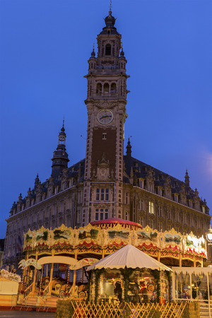 commerce and industry: Chamber of Commerce and Industry in Lille in France during Christmas