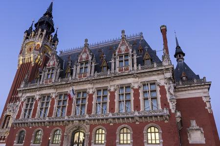 calais: Town hall (Hotel de Ville) at Place du Soldat Inconnu in Calais in France