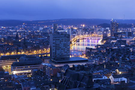 Panorama of the city of Liege in Belgium Reklamní fotografie