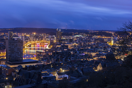 liege: Panorama of the city of Liege in Belgium Stock Photo