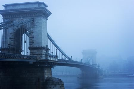 Suspension Chain Bridge in Budapest, Hungary