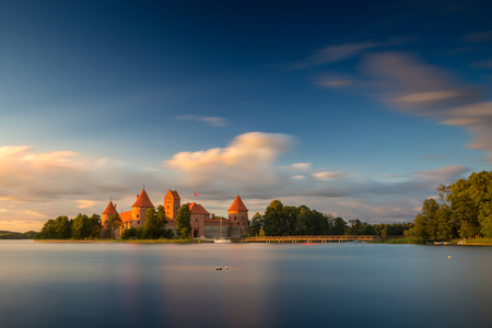 landscape nature: Old castle. Trakai, Lithuania. Stock Photo