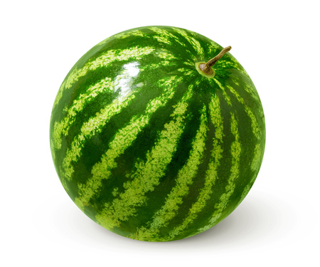 cut: Watermelon isolated on white background. Stock Photo