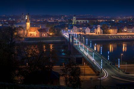 kaunas: Panorama of the river and town of Kaunas. Lithuania