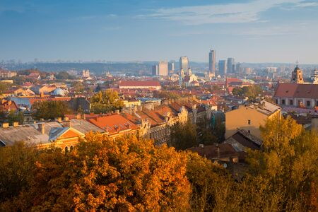 Vilnius autumn panorama. Lithuania. Eastern Europe. Editorial