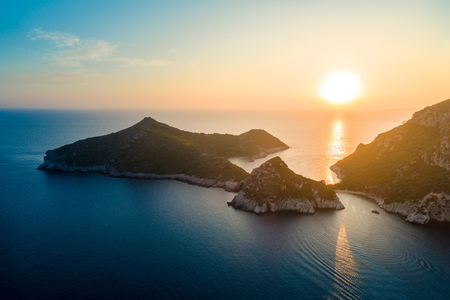 Porto Timoni is an amazing beautiful double beach in Corfu Island, Greece