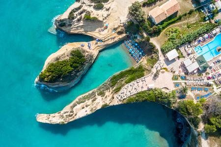 Famous Canal Damour in Sidari - Corfu island, Greece
