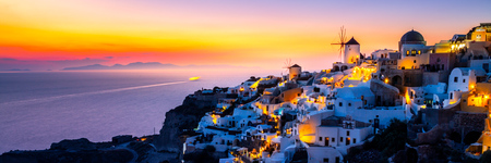 View of Oia the most beautiful village of Santorini island.