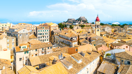 Panoramic view of Kerkyra, capital of Corfu island