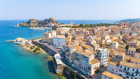 Panoramic view of Kerkyra, capital of Corfu island Stock Photo