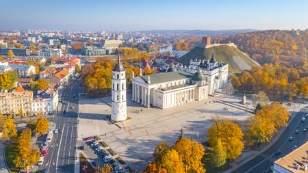 Aerial view of Vilnius city, Lithuania