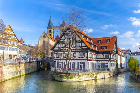 Beautiful view of medieval town Esslingen am Neckar in Germany