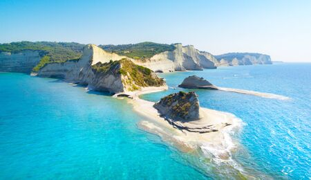 Beautiful view of Cape Drastis in Corfu in Greece Banque d'images - 131586140
