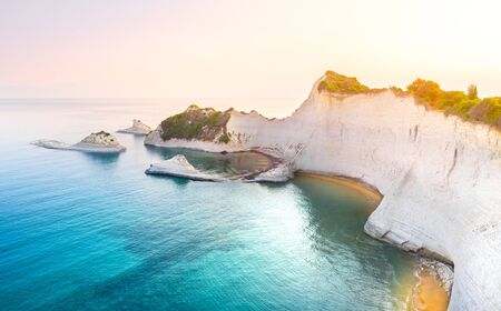 Beautiful view of Cape Drastis in Corfu in Greece Banque d'images - 131025329