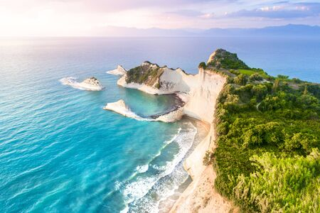 Beautiful view of Cape Drastis in Corfu in Greece Banque d'images - 132036087
