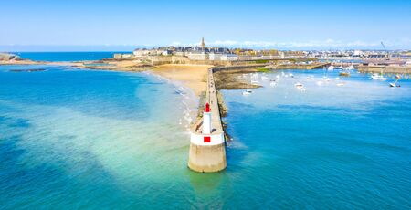Beautiful view of the city of Privateers - Saint Malo in Brittany