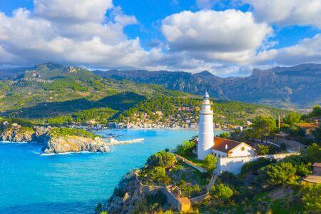 Beautiful harbour of Port de Soller, Majorca, Balearic Islands, Spain Banque d'images - 135230890