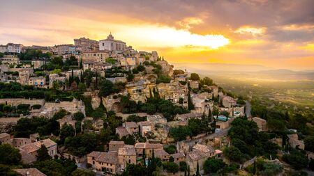 View of Gordes, a small medieval town in Provence, France