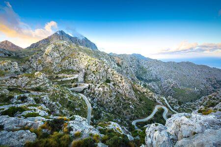 Famous Sa Calobra Road in Maloorca, Spain