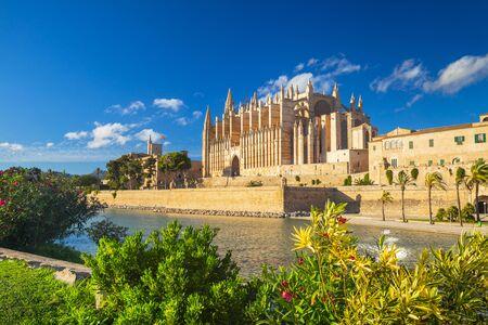 The Cathedral of Santa Maria of Palma and Parc del Mar near, Majorca, Spain