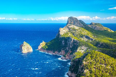 Panoramic views of the Cape Formentor. Majorca, Balearic Islands, Spain