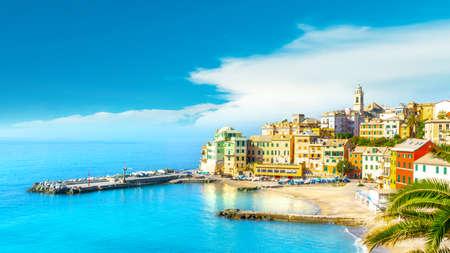 View of Bogliasco. Bogliasco is a ancient fishing village in Italy, Genoa, Liguria