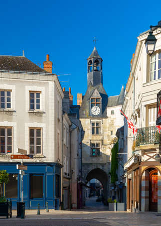 Beautiful medieval village Amboise, Loire Valley, France 免版税图像