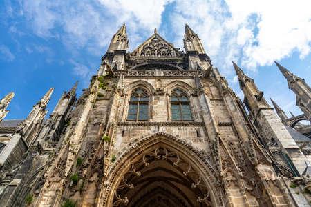 Saint-Ouen Abbey Church, a Gothic Roman Catholic church in Rouen, Normandy, France