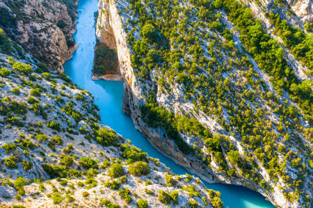 Verdon Gorge, Provence, France. View on the river Verdon from the top of the verdon Gorges. France