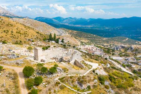 Panoramic view of the ancient Sagalassos town, Province Burdur, Turkey 免版税图像