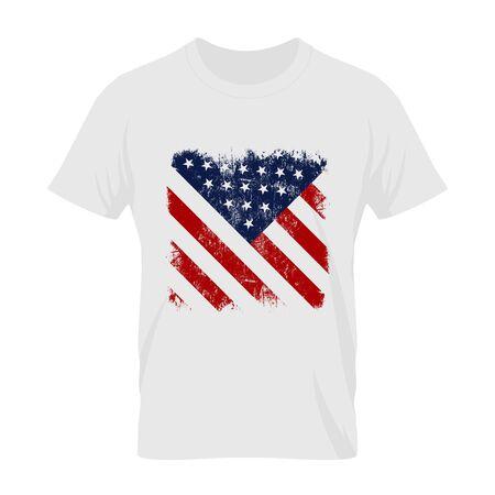 Vintage United States of America flag tee print design.
