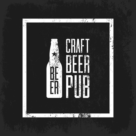 tiff: Craft beer pub concept isolated on dark background.