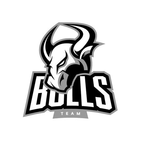 Furious bull sport vector logo concept