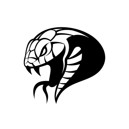 Furious snake sport vector logo concept isolated on white background.
