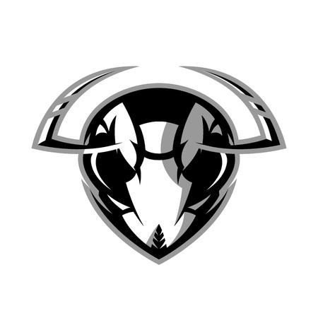 Furious hornet head badge.