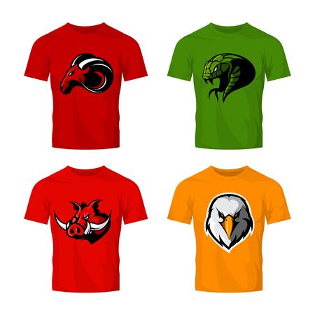 Street wear mascot team badge design. Premium quality wild animal emblem t-shirt tee print illustration.