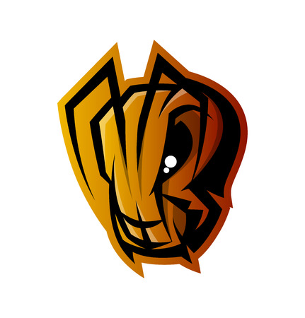 Furious ant head sport vector icon concept isolated on white background.