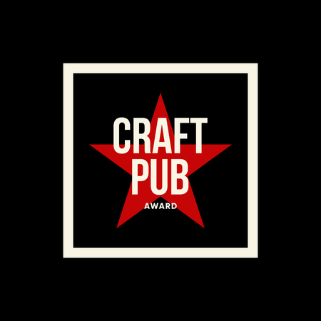 Modern craft beer drink vector logo sign for bar, pub or brewery, isolated on dark.