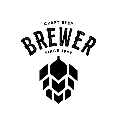 Modern craft beer drink vector logo sign for bar, pub or tavern, isolated on white background.