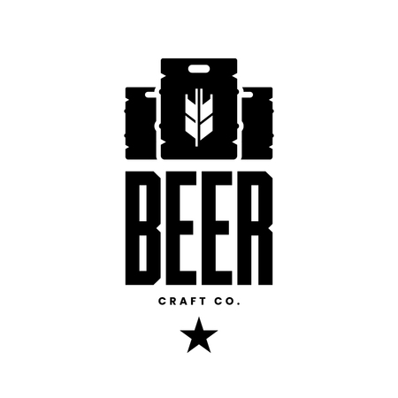 Modern craft beer drink vector logo sign for bar, pub, store, brewhouse or brewery isolated on white background. Premium quality keg logotype illustration. Brewing fest fashion t-shirt badge design.