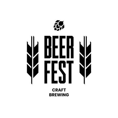 Modern craft beer drink vector logo sign for bar, pub, store, brewhouse or brewery isolated on white background. Premium quality emblem logotype illustration. Brewing fest fashion t-shirt badge design.