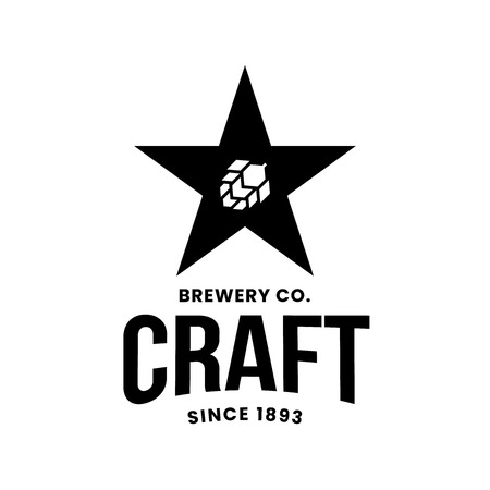 Modern craft beer drink vector logo sign for bar, pub, store, brewhouse or brewery isolated on white background. Premium quality award logotype illustration. Brewing fest fashion t-shirt badge design.