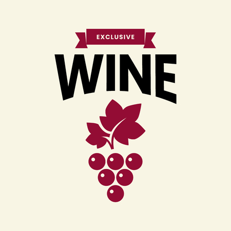 Modern wine vector logo sign for tavern, restaurant, house, shop, store, club and cellar isolated on light background. Premium quality vinery logotype illustration. Fashion brand badge design template. 일러스트