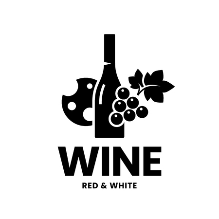 Modern wine vector logo sign for tavern, restaurant, house, shop, store, club and cellar isolated on white background. Premium quality vinery logotype illustration. Fashion brand badge design template.